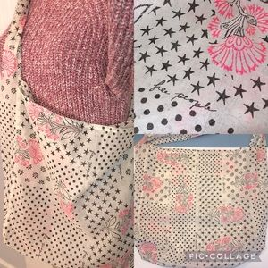 Free People Floral Stars Dots Shopping Bag New